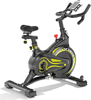 Sckang マグネット式 フィットネスバイク スピンバイク フルカバーホイール 心拍センサー付き 無音設計メーカー1年保証 トレーニング エクササイズマシン