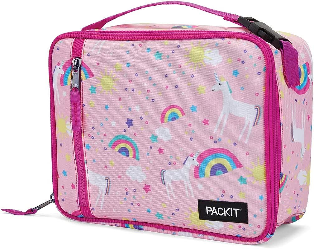 PackIt Freezable Classic Lunch Box Unicorn Sky Pink