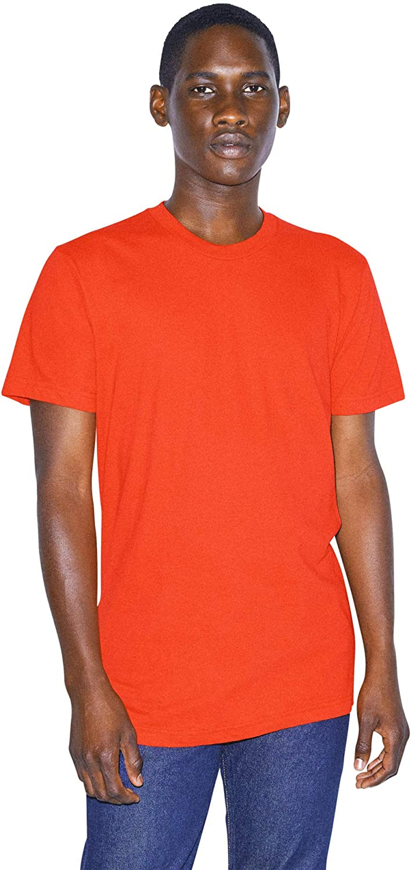 American Apparel unisex-adult Fine Jersey Crewneck Short Sleeve T-Shirt, 2-Pack