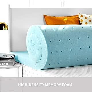 RUUF Memory Foam Mattress Topper Queen 3-Inch, 3 Pound Premium High-Density Ventilated Mattress Pad, CertiPUR-US