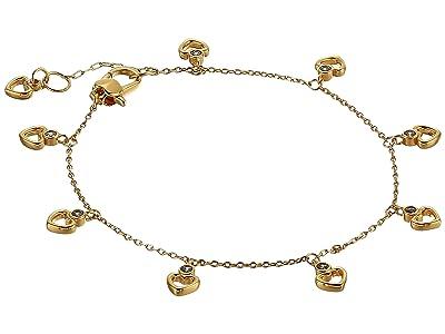 Kate Spade New York Shining Spade Linear Bracelet (Clear/Gold) Bracelet