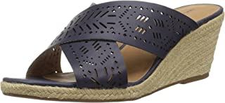 Lucky Brand Women's Keela Wedge Sandal, Moroccan Blu, W 6.5 W US