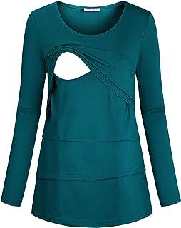 JOYMOM Maternity Long Sleeve Nursing Tops Casual Shirts for Breastfeeding