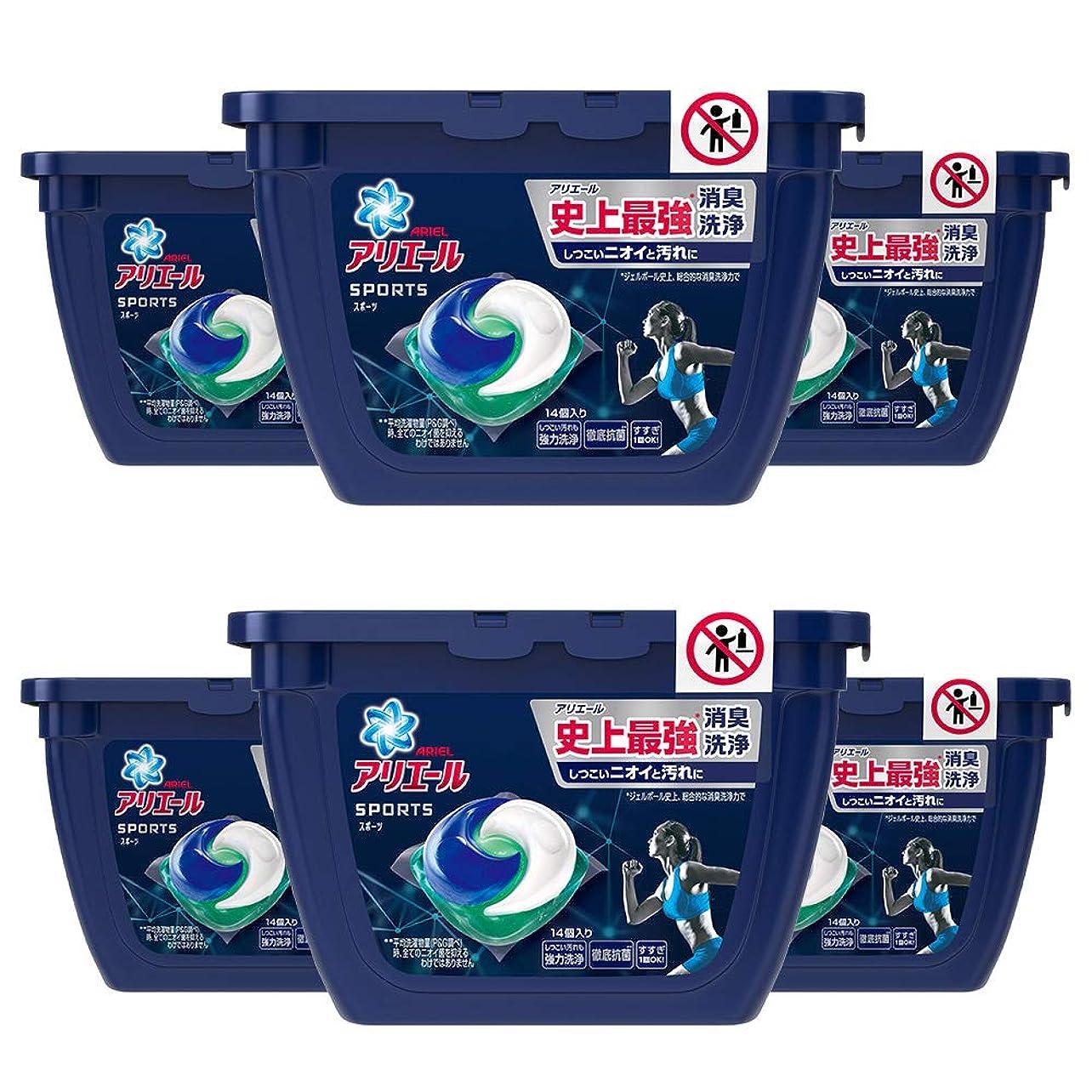 下品論争ドット洗濯洗剤 ジェルボール3D スポーツ アリエール 本体 14個×6個
