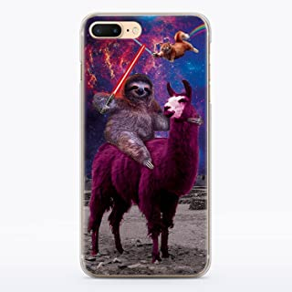Funny Star Wars iPhone 7 and iPhone 8 Case Animal Jedi Rainbow Cat Llama Squad Sith Lightsaber Fight Clear Durable Plastic Case for iPhone 7 and iPhone 8 Sloth Vader MA1304