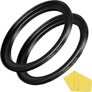 77mm-82mm Step Up Ring [77mm Lens to 82mm Filter] 2 Pack, WH1916 Camera Lens Filter Adapter Ring Lens Converter Accessories
