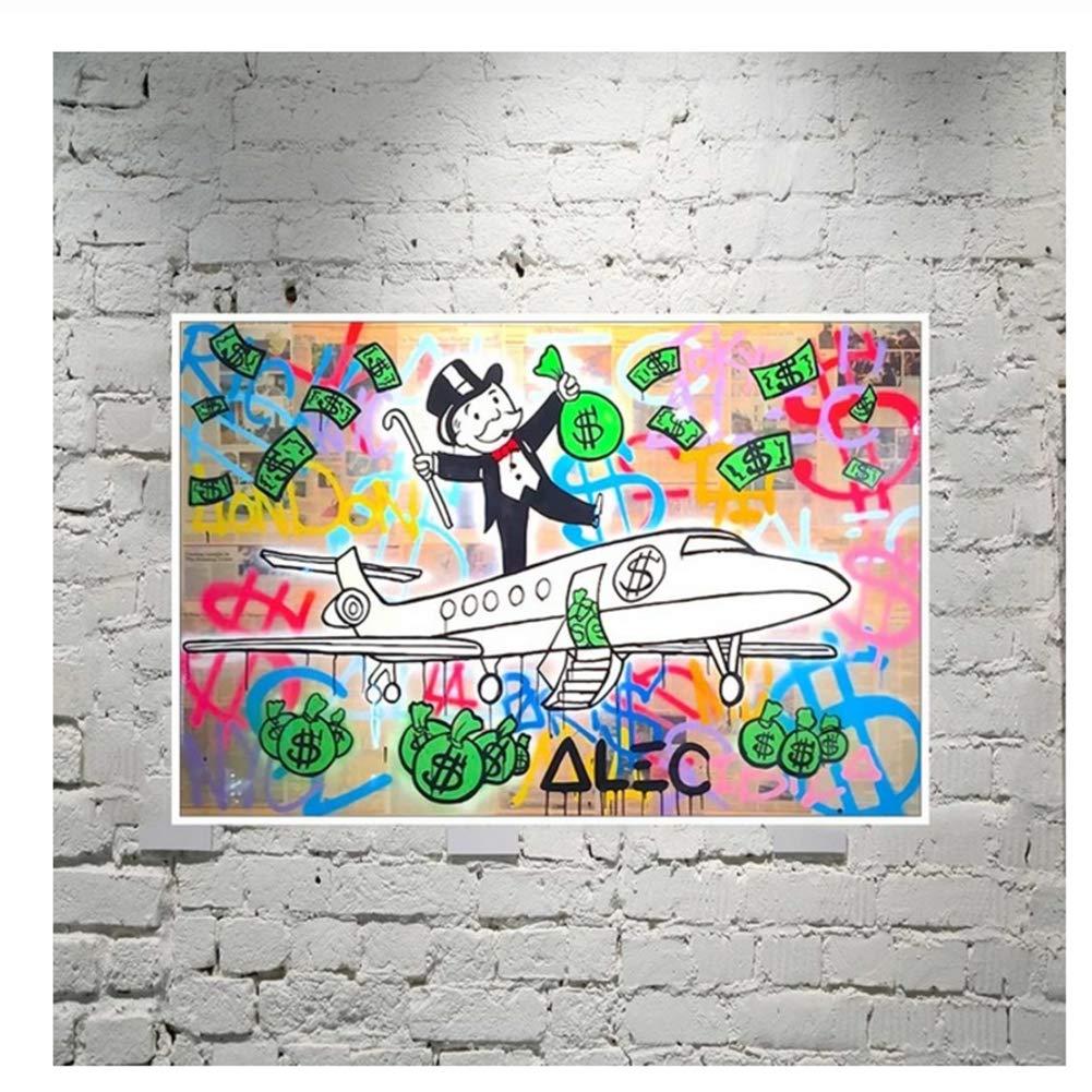 Alec Monopolies PJ Fly HD Wall Art Canvas Poster y Print Canvas Painting Imagen decorativa para la sala de estar de la oficina Decoración para el hogar-60x90cm Sin marco: Amazon.es: Bricolaje y
