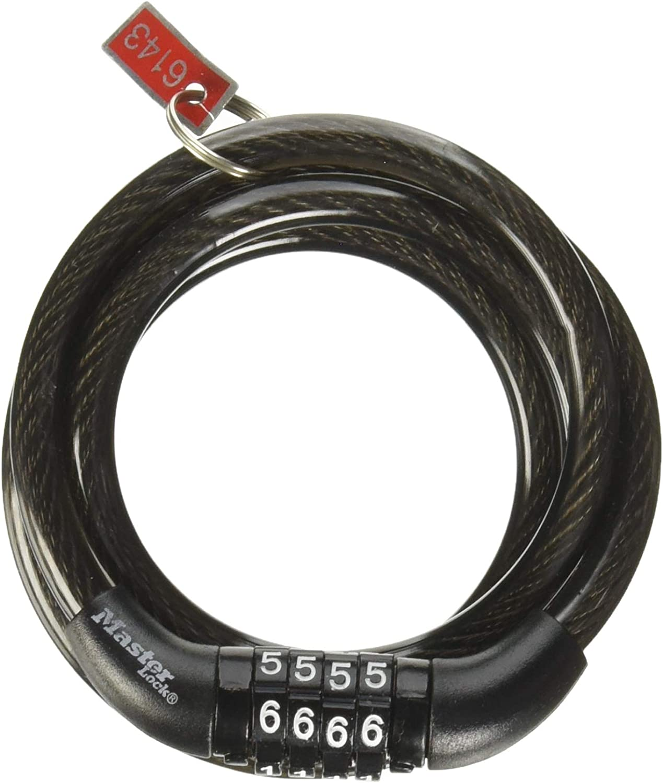 Master Lock  Combination  Steel  Locking Cable