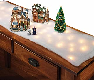 Lighted Snow Table Runner