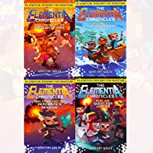 Minecraft Elementia Chronicles Collection 4 Books Set (The Dusk Of Hope, The New Order, Herobrine's Message, Quest for Justice)