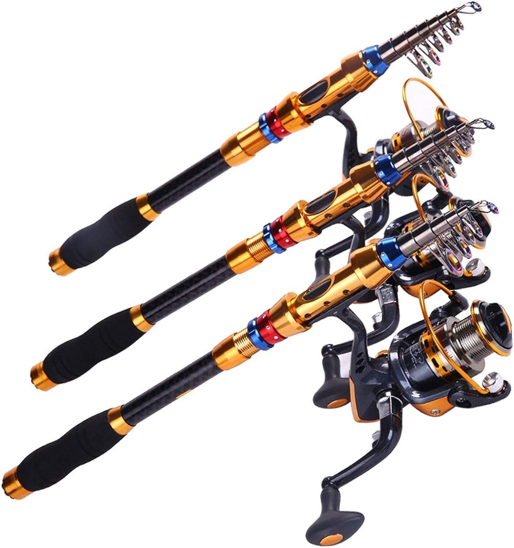 1.83.0m Telescopic Fishing Rod and 14BB Fishing Reel Wheel Portable Travel Carp Carbon Spinning Fishing Rod
