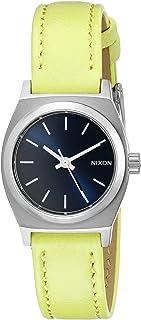 Nixon Women 's A5092080pequeño time-teller piel analógica reloj de cuarzo