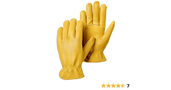 Natural Yellow 9 Hestra Goat Drivers Glove for Everyday Use Yardwork and Hand Tool Use