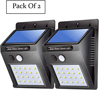 Bigsavings. Motion Sensor 20 LED Solar Light, Outdoor Weatherproof for Driveway Garden Path Yard- Pack of 2