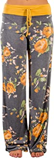 AMiERY Women's Comfy Casual Pajama Pants Floral Print...