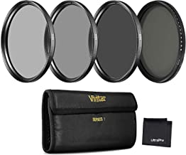 Vivitar 72mm Series 1 Neutral Density 4-Filter Bundle, Includes 2-, 4-, 8-Stop Filters, Variable ND NDX Filter, Carry Case, UltraPro Microfiber Cleaning Cloth