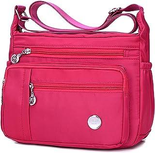 Wasserdichte Umhängetasche aus Nylon – Handtasche mit Reißverschluss für Damen und Mädchen
