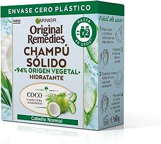Garnier Original Remedies Champú Sólido - Coco Y Aloe Vera Ecológico Para Cabello Normal Raíces Grasas