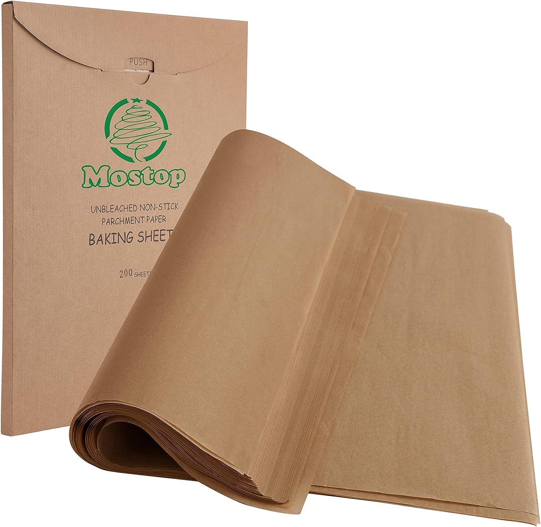 Mostop 200 Pcs Parchment Paper Baking x 16 12 Precu 2021 new Sheets Los Angeles Mall Inch