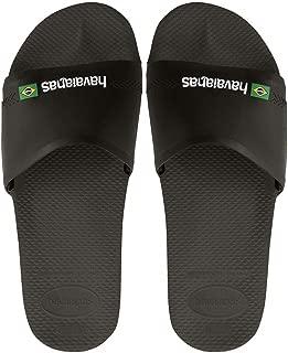Havaianas Men's Brasil Flag Sliders, Black