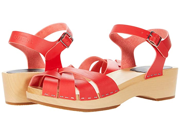 70s Outfits – 70s Style Ideas for Women Swedish Hasbeens Magdalena Red Womens Sandals $250.00 AT vintagedancer.com