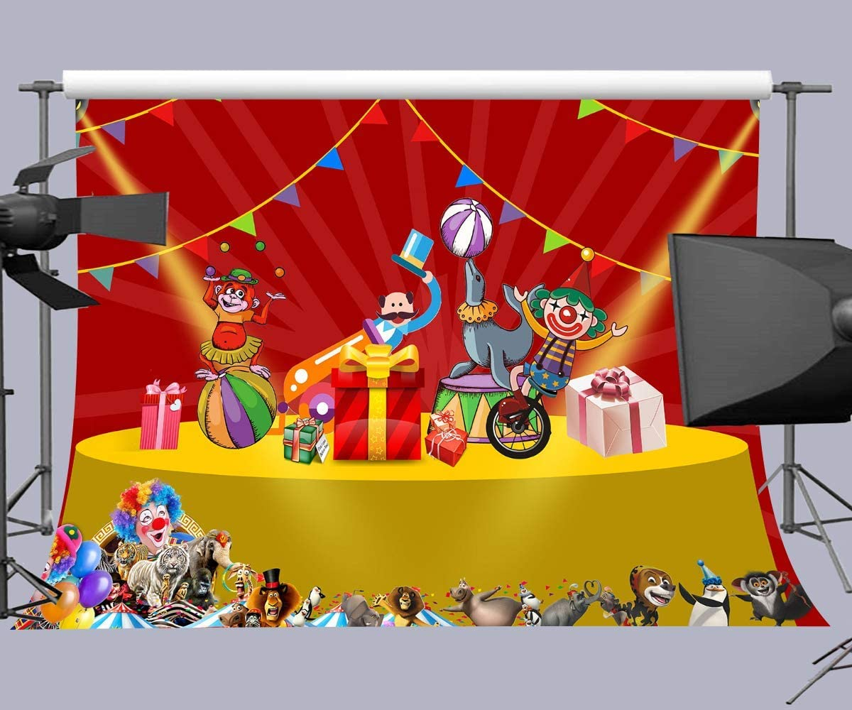 10x6.5ft Circus Theme Party Background Carnival Party Kids Children Photography Background Baby Shower Decoration Banner Prios HXFU262