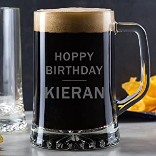 Personalized Pint Glass Tankard - Birthday Pint Glass - Novelty Gifts for Men - Funny 21st 18th 30th 40th 50th Birthday Gifts for Men -