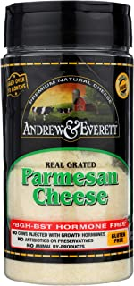 Andrew & Everett Real Grated Parmesan Cheese, Hormone Free, Gluten Free, 7oz. Shakers (27930), 6 Count