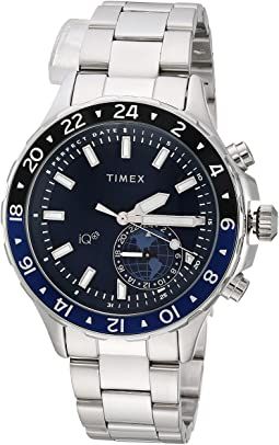 Timex - IQ+ Move Multi Time Stainless Steel Bracelet