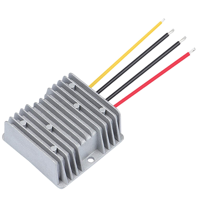 HSEAMALL Convertidor de corriente continua de 24 V a 12 V CC, convertidor de voltaje de 20 A 240 W reductor de voltaje, módulo adaptador de fuente de alimentación para coche