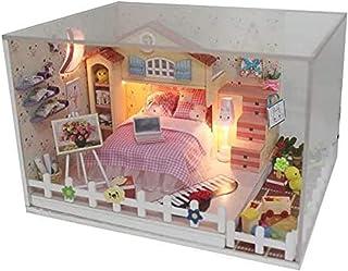 Model Decoratie Diy Poppenhuis Leuke Kamer 3D Houten Poppenhuis Miniatuur Meisje Slaapkamer Meubels Voor Kinderen Speelgoe...