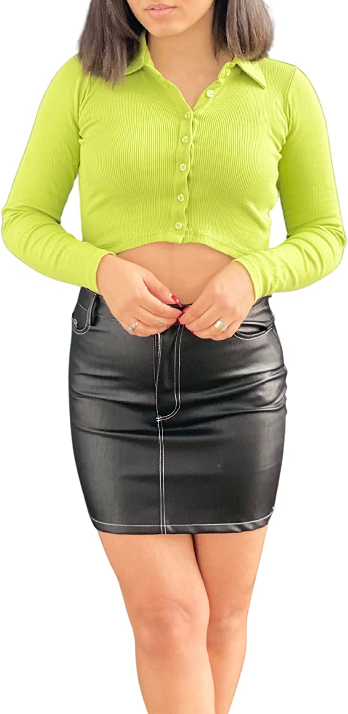 Motel OFFicial Daily bargain sale shop Rocks Faux Leather Skirt Mini