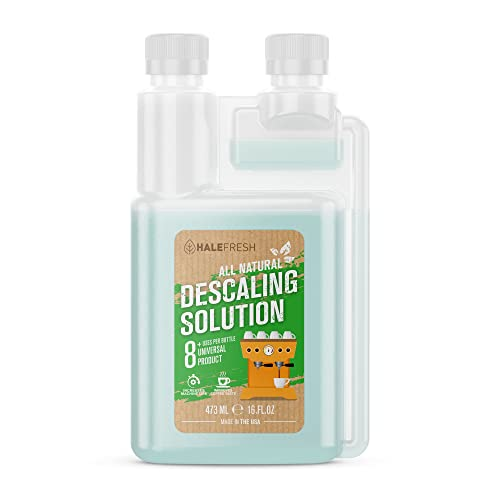 Descaling Solution Coffee Maker Cleaner - Simple All Natural 8 Uses Per Bottle - Universal for