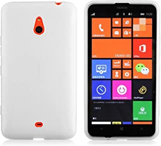 Cadorabo Case Works with Nokia Lumia 1320 Ultra Slim TPU Silicone Cover in SEMI Transparent (Design X) – Shockproof Scratch Resistant Gel Case Protective Shell Bumper Skin Back Cover