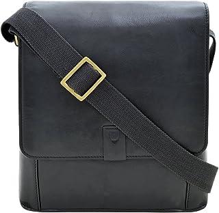 "Hidesign Aiden Genuine Leather Medium Crossbody Men/Women Shoulder Messenger Bag/Travel Bag / 10.5"" iPad Bag"