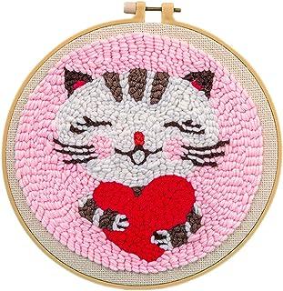 ALLESOK Kreuzstich Stickerei DIY Handarbeit Stickpackung Set Einschließlich Farbe Threads Baumwolle Tuch Nadel Zeichnung