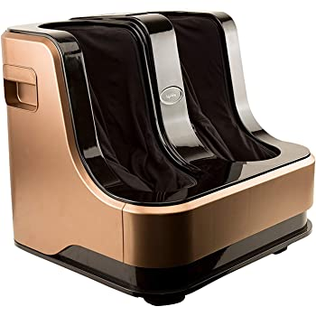 Lifelong LLM99 Foot, Calf and Leg Massager, (With Heat and Vibration), 80W, 4 Motors, DarkBrown