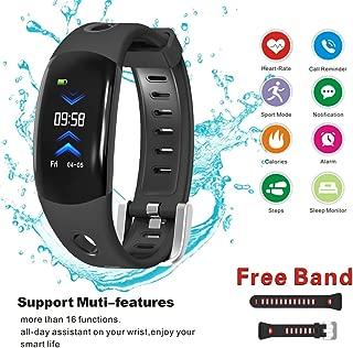 Fitness Tracker - Touch Screen Smart Sport Wristband - Activity Tracker with Heart Rate Monitor Bracelet - Waterproof Smart Watch - Pedometer for Women Men Kids
