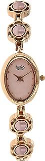 Raga Swarovski Crystal, Mother of Pearl Dial, Gold/Silver/Brass Metal, Jewellery Design, Bracelet Style, Designer, Quartz Glass, Water Resistant Wrist Watch