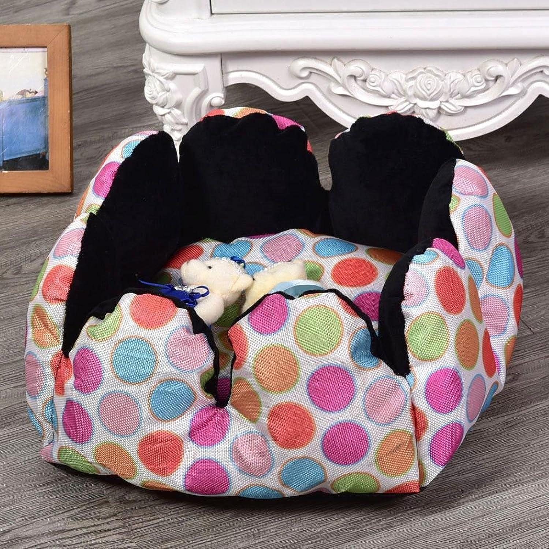 Daeou Pet mat Warm pet Nest colorful Oxford Cloth cat Nest Candy color Round nest 30  30  16cm