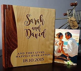 custom wood photo album