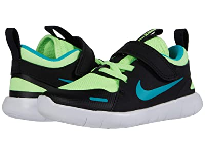 Nike Kids Flex Contact 4 (Infant/Toddler) (Ghost Green/Oracle Aqua/Black/White) Kid