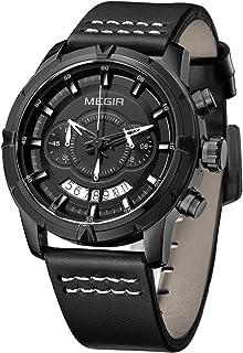 ساعة ميجر للرجال ماركة رياضية للرجال ساعة يد متعددة الوظائف كرونوغراف 2047