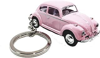 Kinsmart Pink Classic VW Volkswagen Beetle Keychain 1/64 Pastel Color Diecast Car