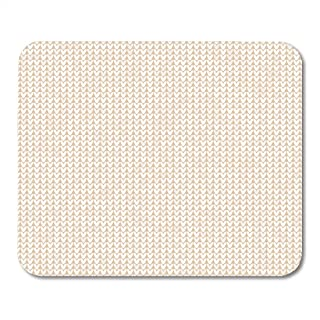 Boszina Mouse Pads Woolen Autumn Knitted Scandinavian Ornaments Hipster Ugly Sweater White Beige Color Flat Style Crochet Mouse Pad for notebooks,Desktop Computers mats 9.5