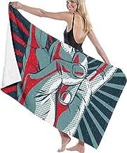 ANMkmer ROC-k N Ro-ll Pool Beach Towel Luxury Microfiber Bath Towels Quick-Drying Towel Blanket for Travel Swim Pool Yoga Camping Gym Sport