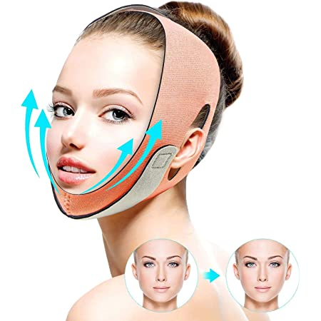 FERNIDA Double Chin Reducer, Face Slimming Strap Facial Weight Lose Slimmer Device, Pain Free V-Line Chin Cheek Lift Up Band Anti Wrinkle Eliminates Sagging Anti Aging Breathable Face Shaper Band