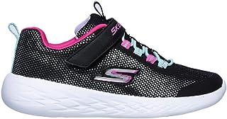 Official Brand Skechers GOrun 600 Trainers Childs Girls Black/Multi Shoes Sneakers Footwear