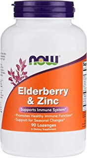 Now Foods Elderberry and Zinc, Lozenges, 90ct