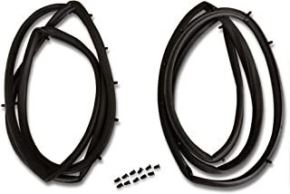 Make Auto Parts Manufacturing - Set of 2 Full Metal Door Seal Kit Pair for Jeep CJ & Wrangler YJ 1976-1995